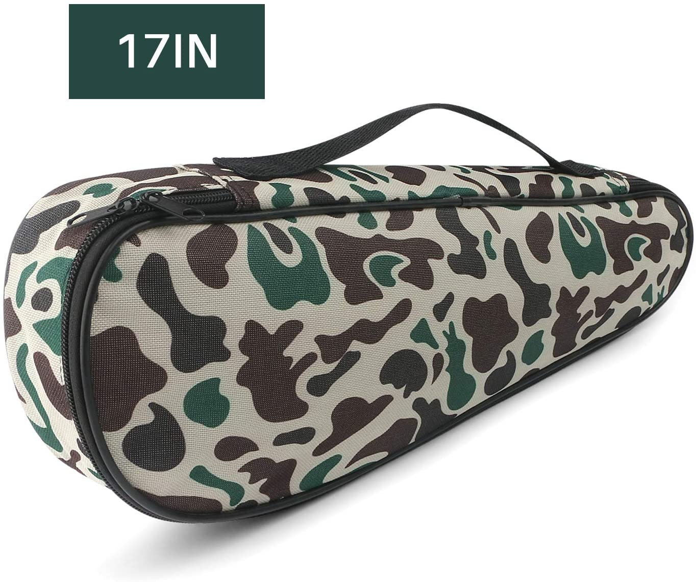 Folding Fishing Rod Carrier Bag Waterproof Fishing Pole Reel Storage Bag, Portable Carry Case Tackle Box for Travel Fishing Gear Organizer, Single Layer Large Capacity, 45cm