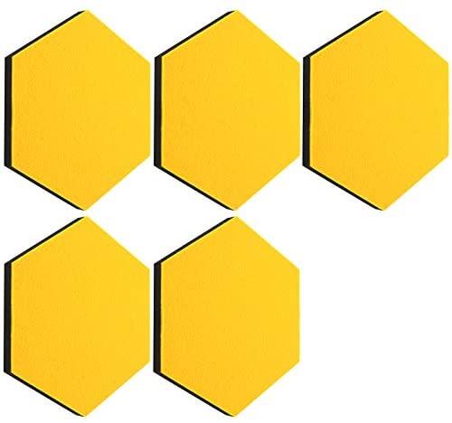 thehaki Sandwich Felt Board Hexagon Type Memo Board (Yellow_5P)