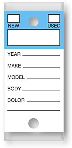 VERSA-TAGS Genuine Key Tags (Color Top - Blue)
