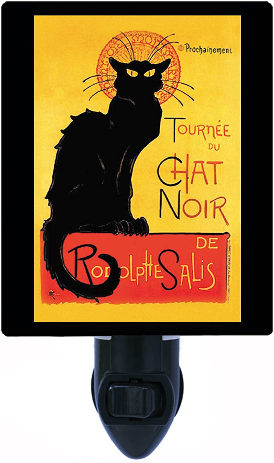 Vintage Cat Night Light, Chat Noir, Cats LED Night Light