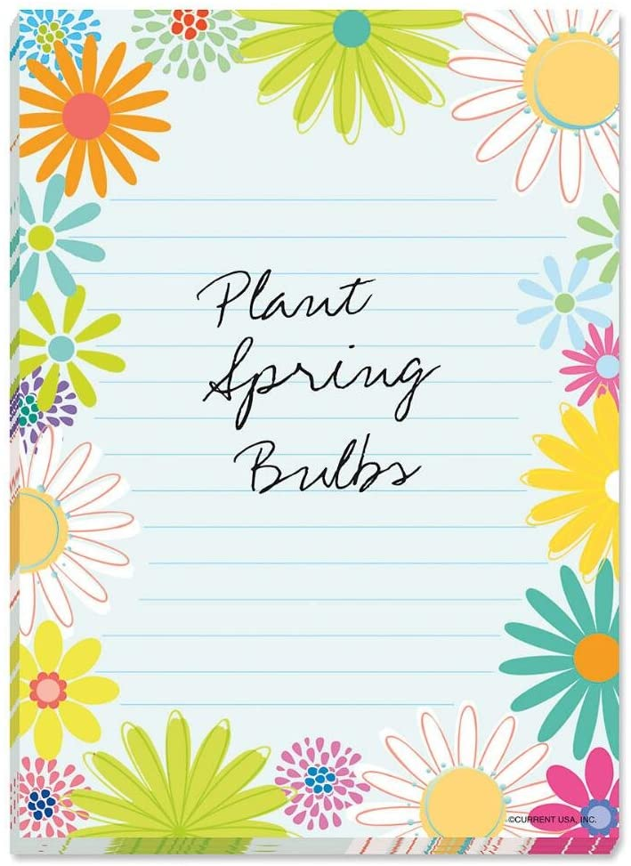 Spring Daisy Lined Notepad - 5 x 7, 60 sheet pad, Great Shopping List Pad, Spring Memo Pad