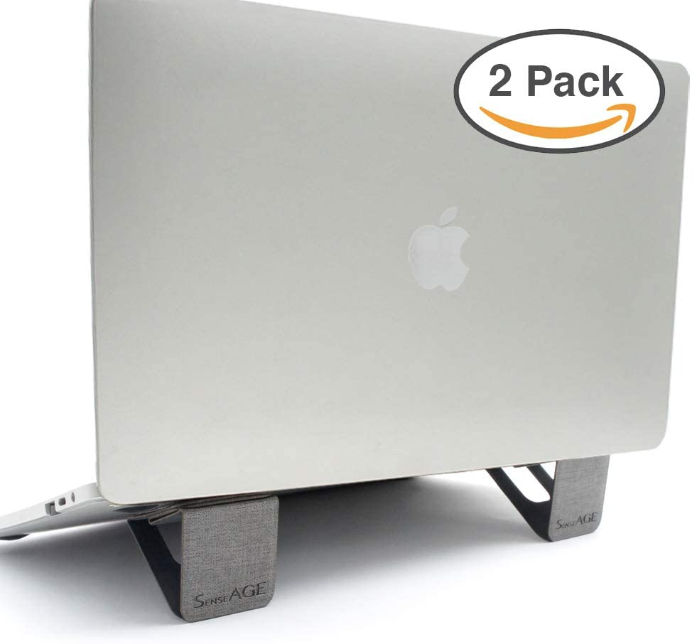 "SenseAGE 2 Pack Mini Magnetic Portable Foldable Laptop Stand, Lightweight Laptop Stand, On-The-go Notebook Stand, Compatible with MacBook/MacBook Air/MacBook Pro, Tablets and Laptops up to 15"", Grey"