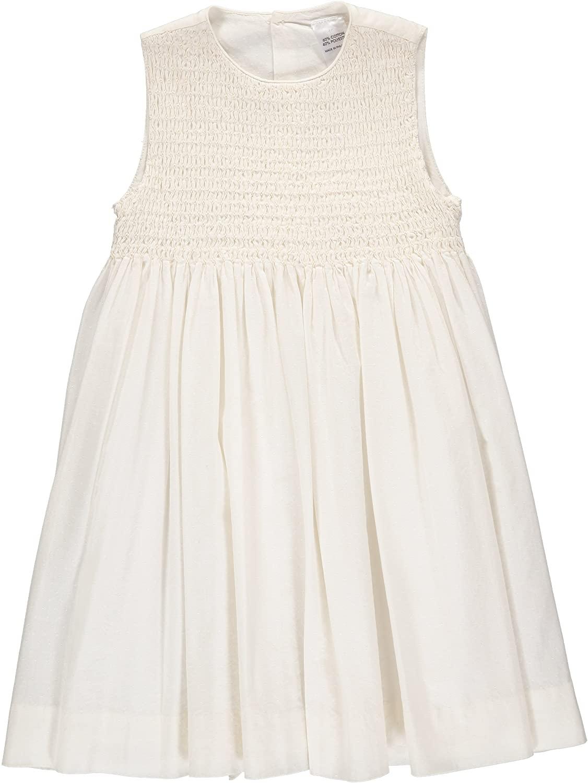 Carriage Boutique Baby Girl Classic Sleeveless Dress - Elegant Cream