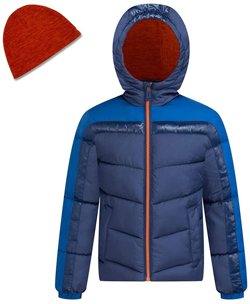 HZXVic Baby Boys Lightweight Winter Coat,Waterproof Hooded Down Puffer Jackets for Kids Parka Outerwear