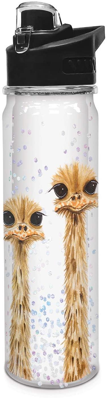 Studio Oh! Tritan Water Bottle, 18.6 oz, Ostrich Family