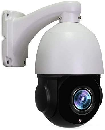 LEFTEK PTZ Camera Outdoor Mini POE PTZ Camera 5.0MP IR High Speed Dome Camera with Night Vision 20x Optical Zoom 4.7-94mm Lens 196ft IR Distance Include H.264 and RJ45 Onvif Protocol