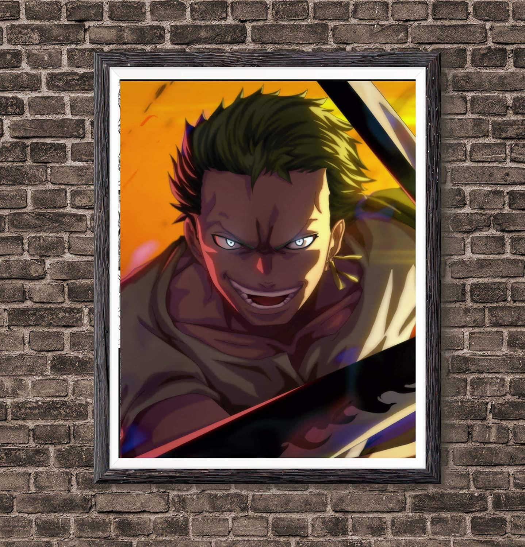 One Piece Sword Hunter Roronoa Zoro One Piece Anime Canvas Art Print,8 x 10 Inches,No Frame