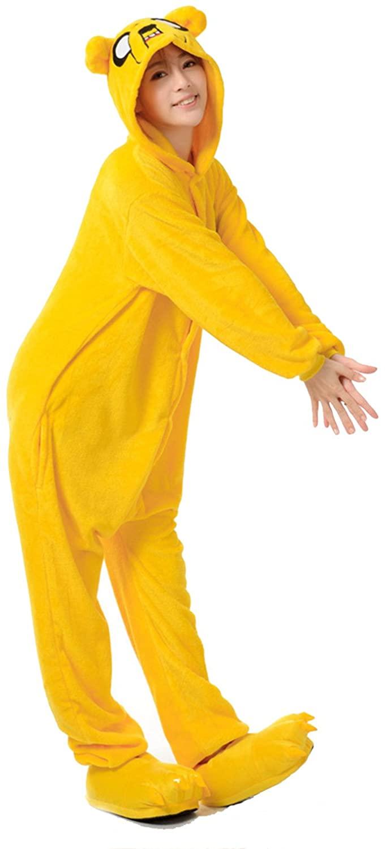 VU ROUL Adult Halloween Costumes Dog Onesie Animal Pajamas Yellow