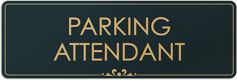 Parking Attendant - Laser Engraved Sign - 3