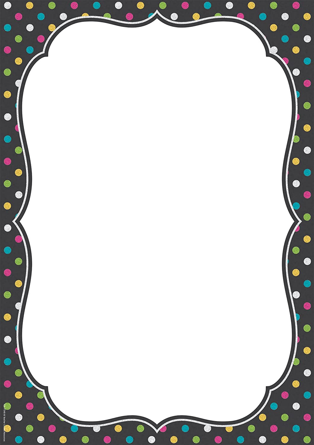 Chalkboard Brights Clingy Thingies Large Note Sheet
