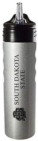 LXG, Inc. South Dakota State University-24oz. Stainless Steel Grip Water Bottle with Straw-Silver