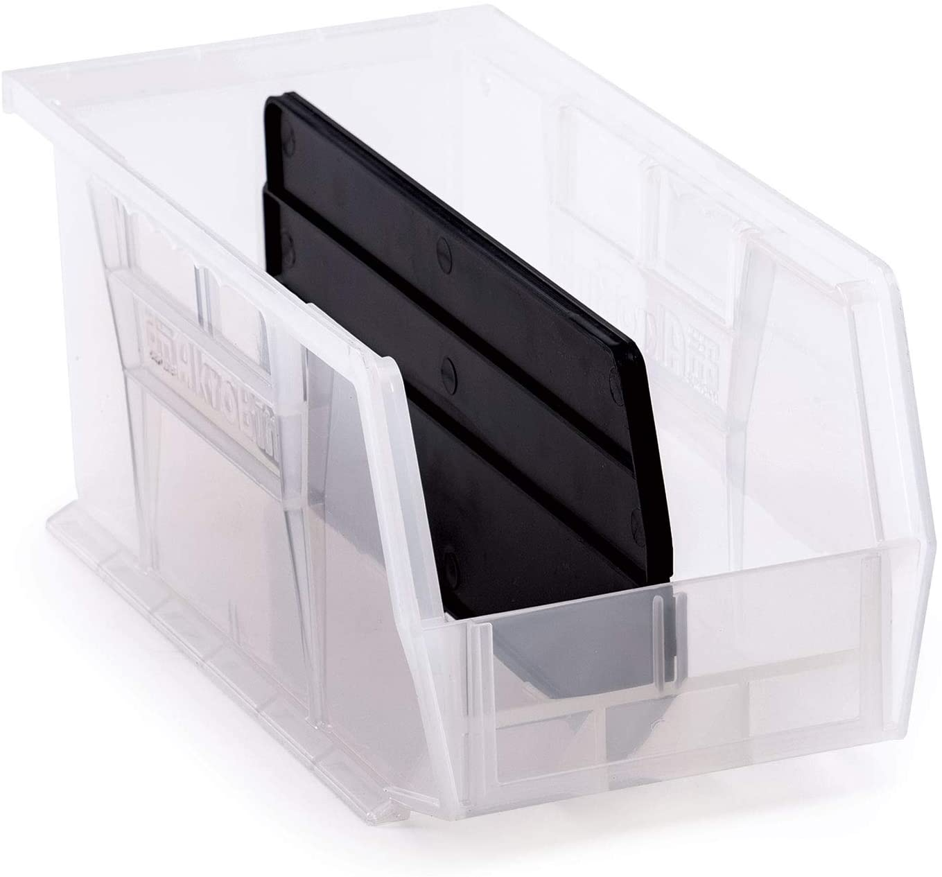 AkroBin 30230 Semi-Clear Stack & Hang Bins 10-7/8 x 5-1/2 x 5 Bundle with Length Dividers