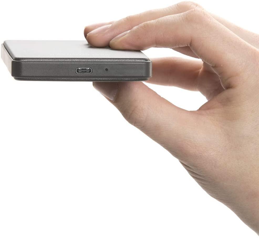 Oyen Digital U32 Shadow External 1TB USB-C (3.1 Gen 2) Portable Hard Drive, Slate Gray