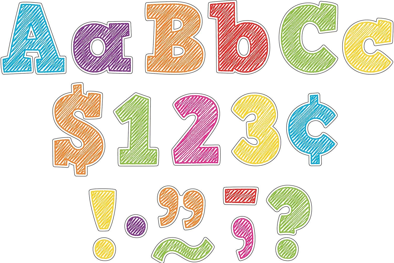 Scribble Bold Block 3 Letters