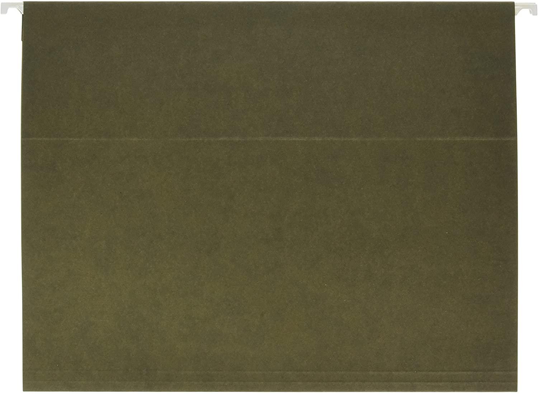 School Smart Hanging File Folder, Letter, Standard Green, 1/3 Cut Tabs, Pack of 25