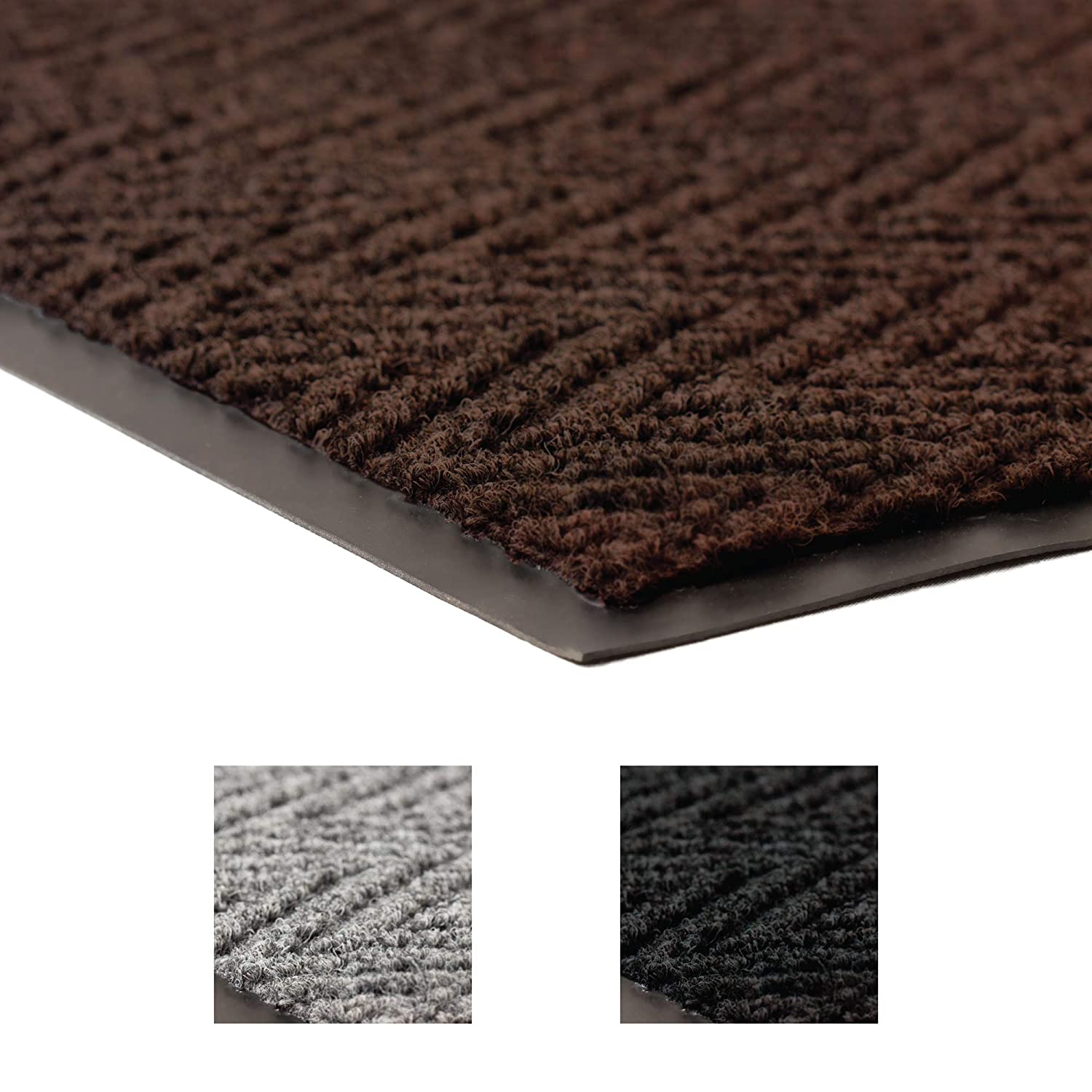 Notrax 118 Arrow Trax Entrance Mat, for Home or Office, 3' X 10' Brown