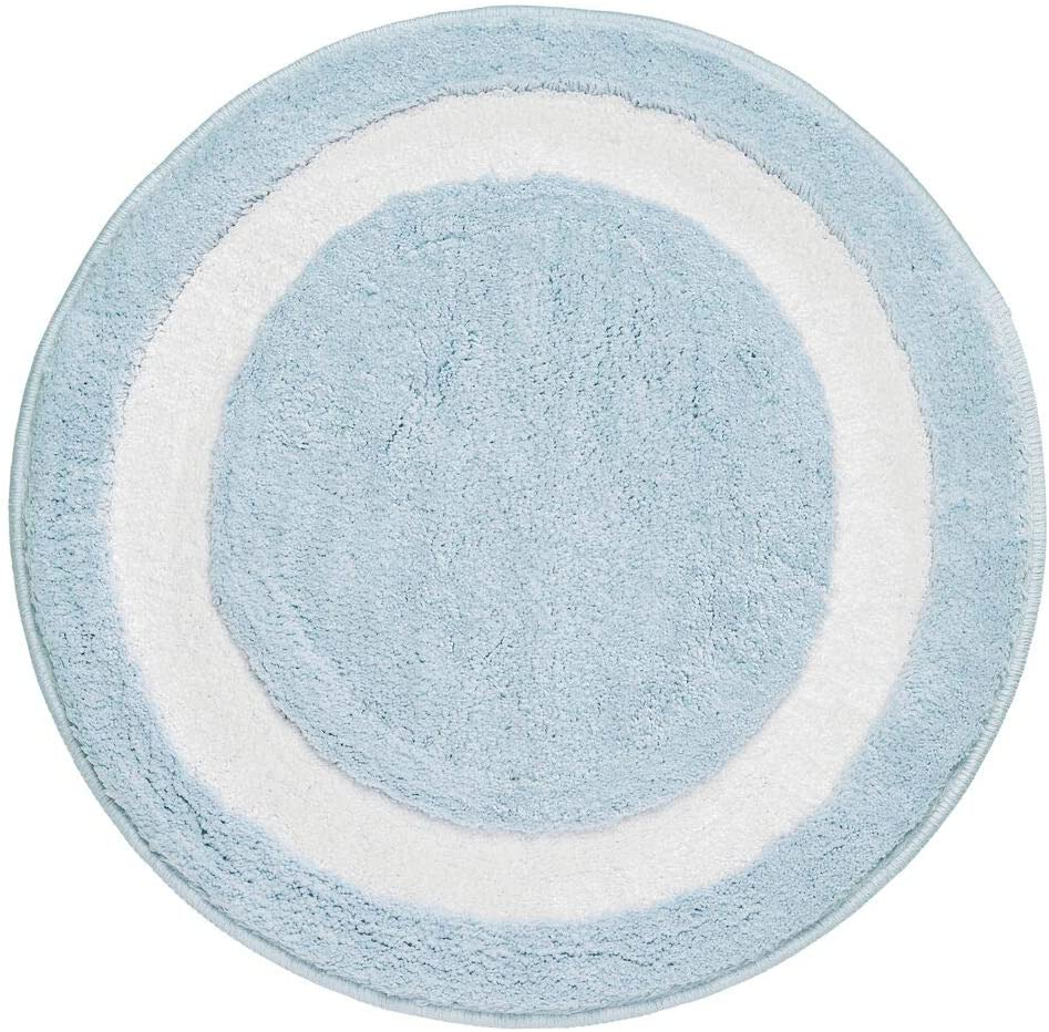 mDesign Soft Microfiber Polyester Non-Slip Extra-Long Spa Mat/Runner, Plush Water Absorbent Accent Rug for Bathroom Vanity, Bathtub/Shower, Machine Washable - 24