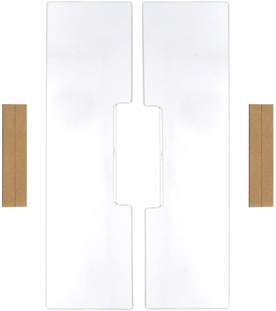 GARASANI Left & Right Computer Monitors Screen Acrylic Message Boards Memo Pads - Pack of 2 (Transparent Horizontal)