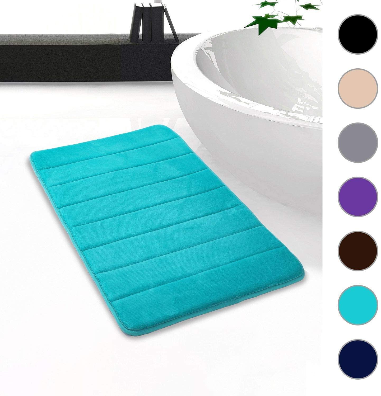 Colorxy Memory Foam Bath Mat - Soft & Absorbent Bathroom Rugs Non Slip Large Bath Rug Runner for Kitchen Bathroom Floors (20
