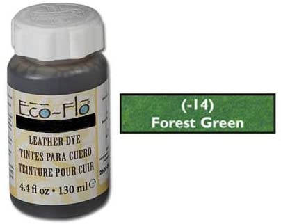 Tandy Leathercraft Eco-flo Forrest Green Dye 4.4 Oz 2600-14