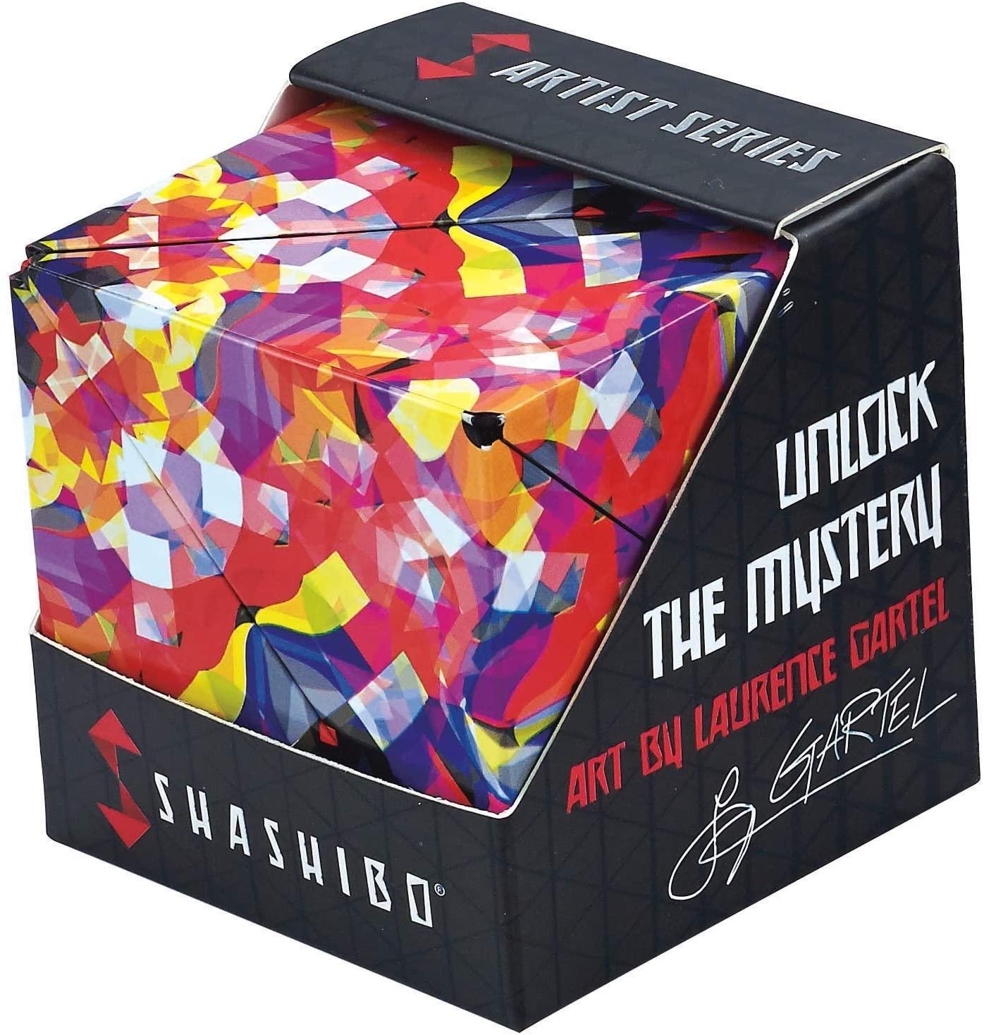 SHASHIBO - The Shape Shifting Box Artist Series (36 Rare Earth Magnets) - STEM/STEAM Fidget Geometric 3D Magnetic Transforming Magnetic Box Magic Cube (Confetti)