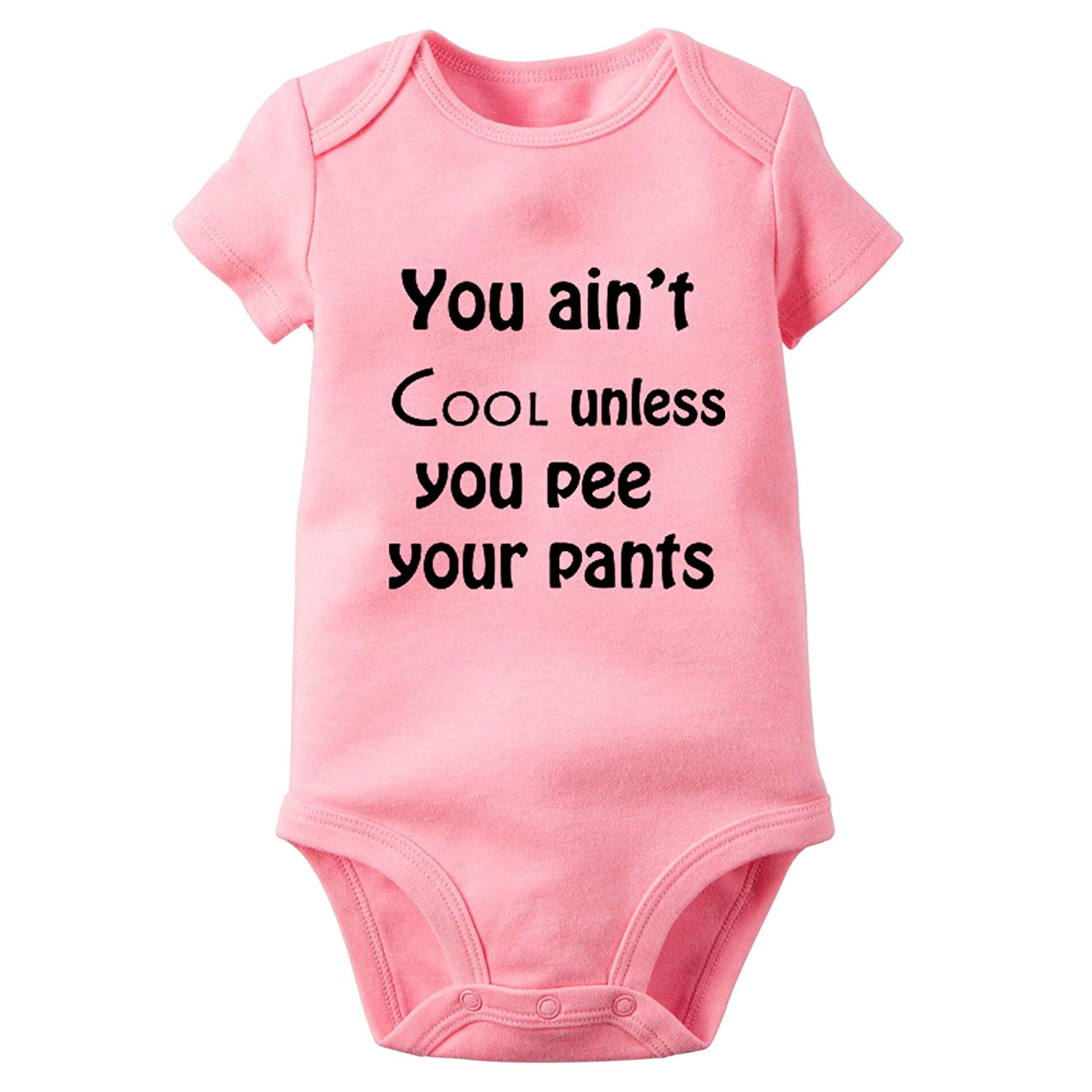 You Ain't Cool Funny Baby Bodysuit Newborn Onesies Super Soft Cotton Comfy Toddler Clothes(6m Pink dad19)