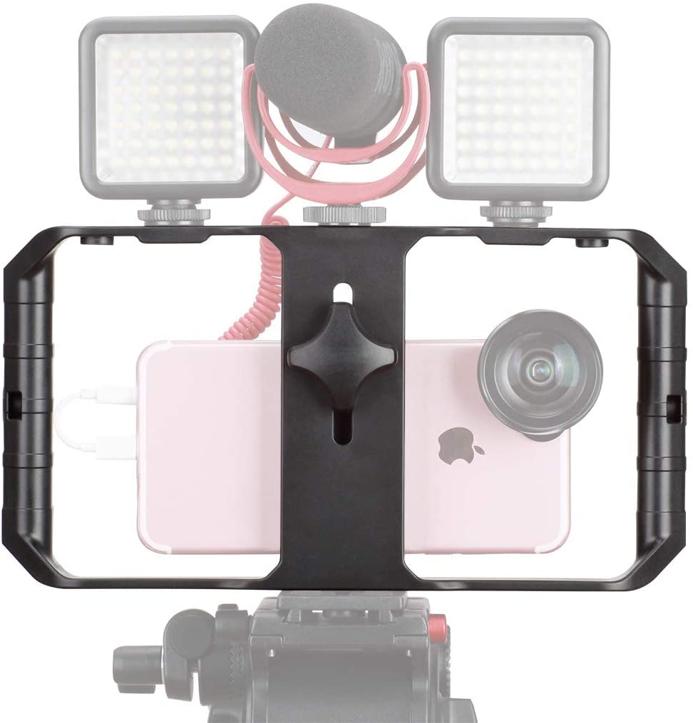 Sinfox Smartphone Video Rig Vlogging Stabilizer Rig,Filmmaking Video Stabilizer Stand Phone Tripod Mount for iPhone 11 XS Max XR iPhone X 8 Plus Huawei Samsung