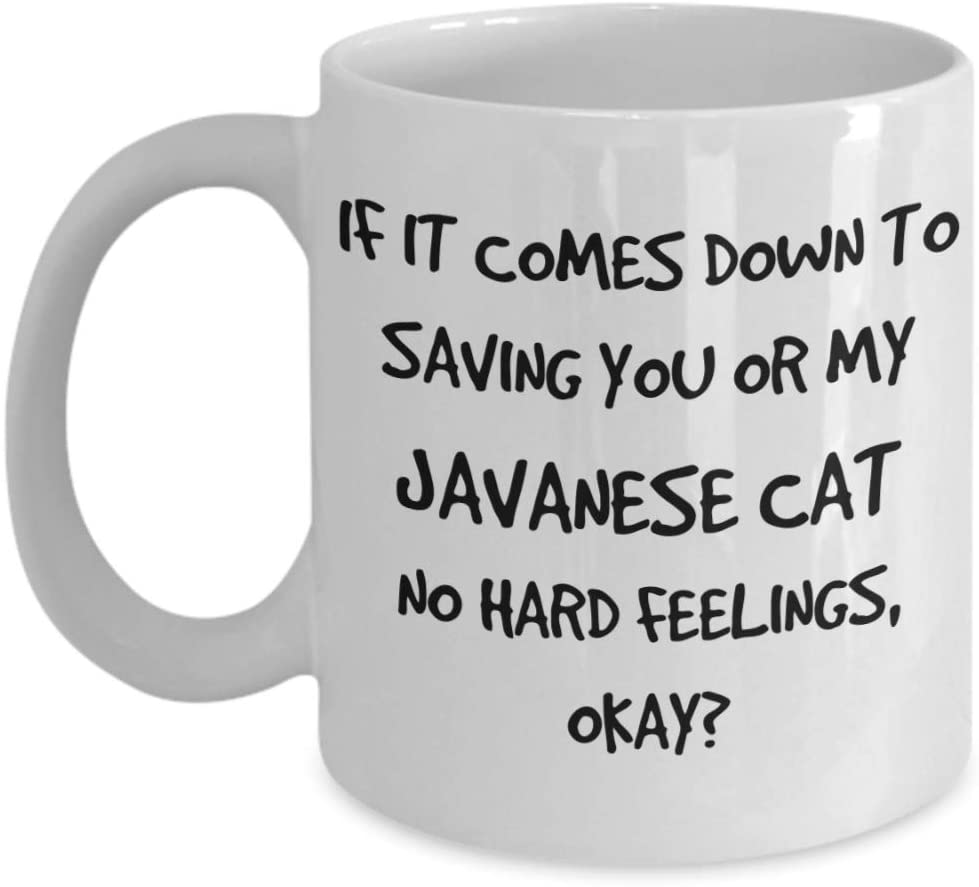 Funny Javanese Cat Mug - White 11oz 15oz Ceramic Tea Coffee Cup - Perfect For Travel And Gifts