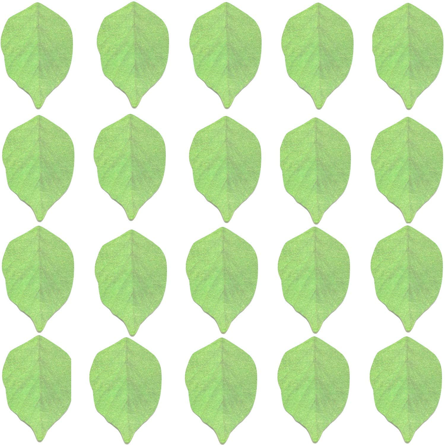 MIAO JIN 20 Pack Cute Leaf Shape Recyclable Sticky Notes Pads Memo Notes (Green, 1000 Sheets in Total)
