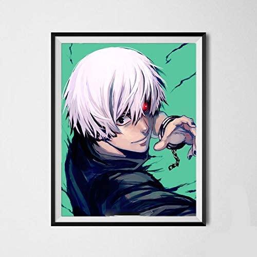 Black Hunter Vampire Slayer Kaneki Ken Tokyo Ghoul Original Anime Canvas Art Print 8 x 10 Inches,No Frame