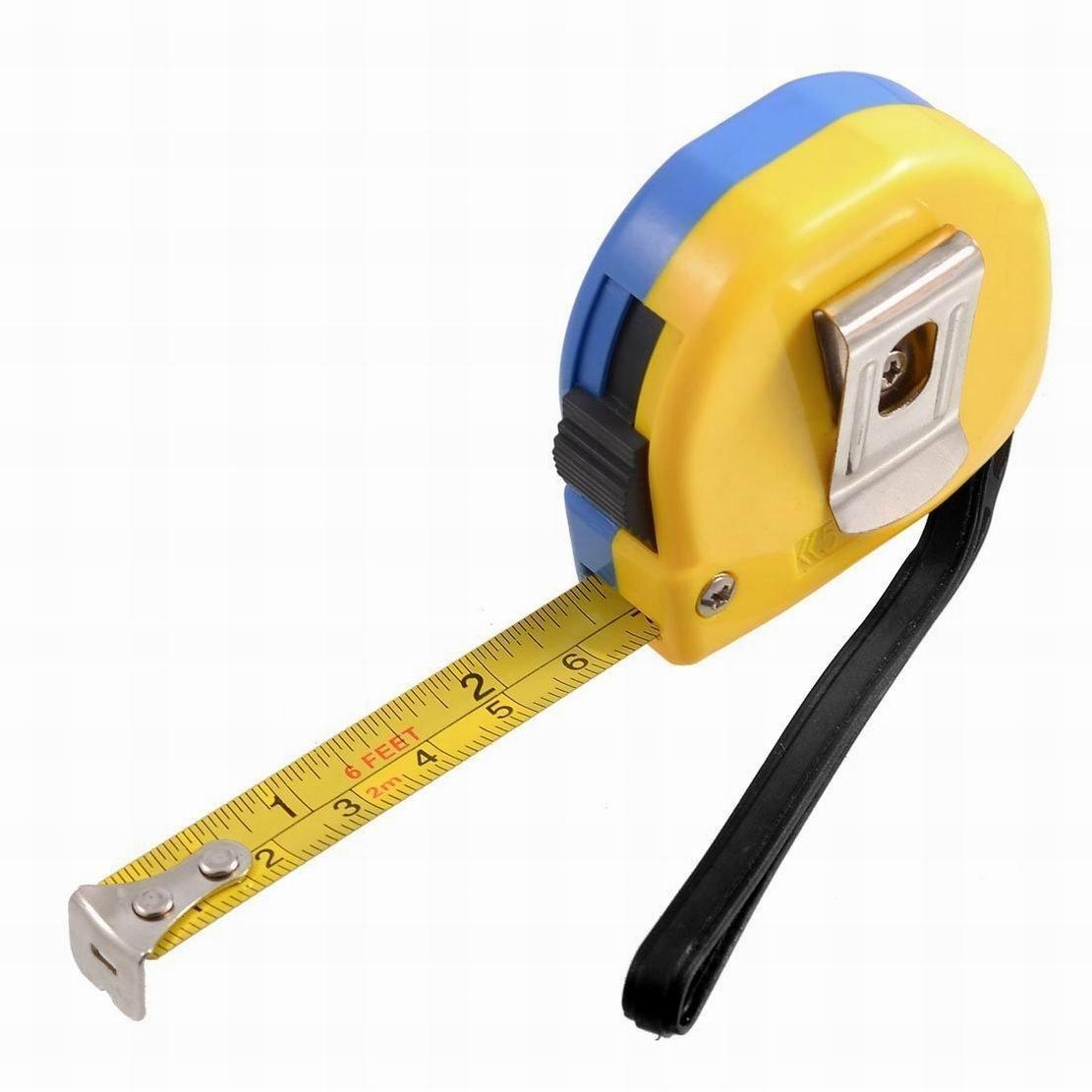 Uptell 2M 6Ft Retractable Metric English Ruler Tape Carpenter Measuring Tool
