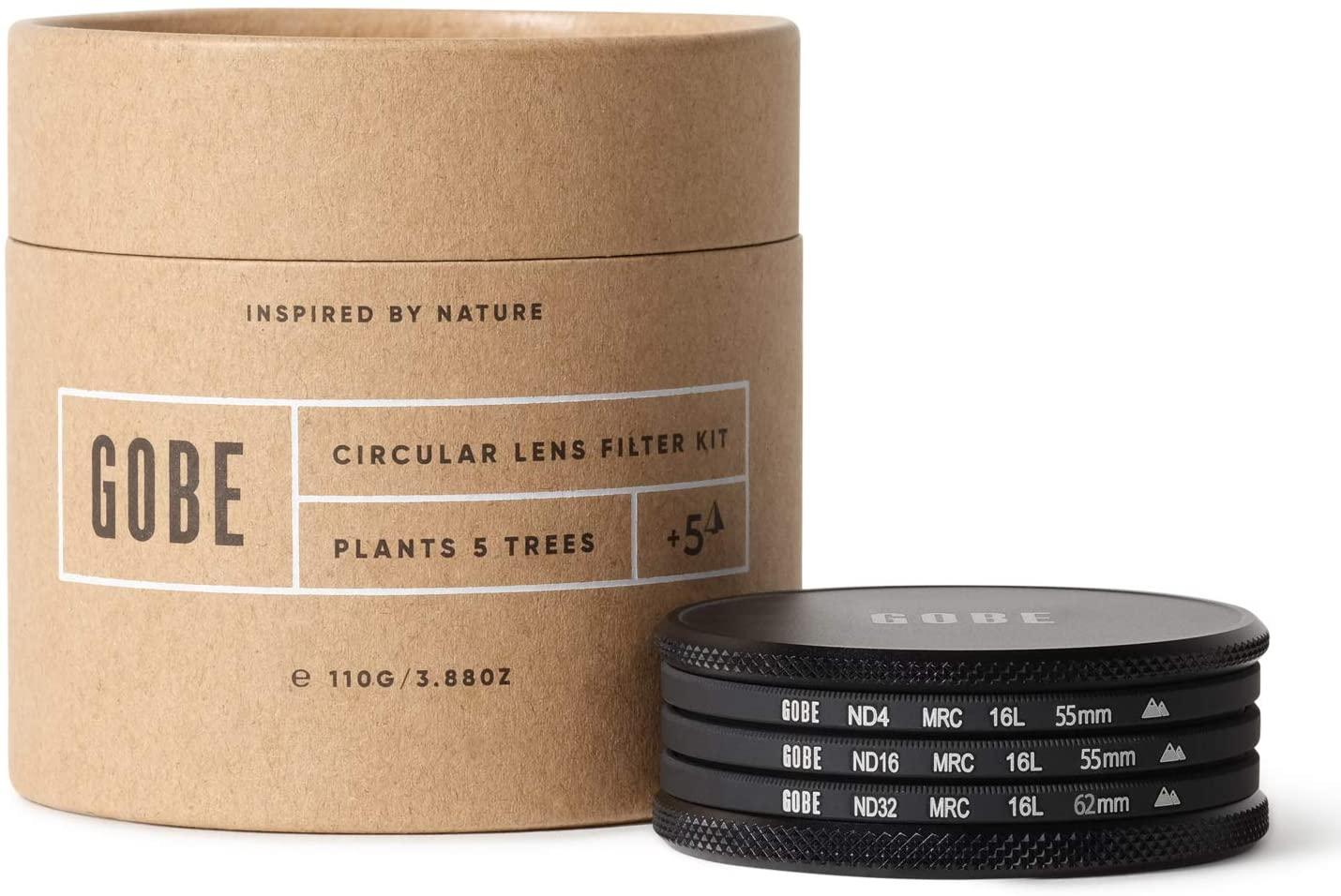 Gobe ND Filter Kit 55mm MRC 16-Layer: ND4, ND16, ND32