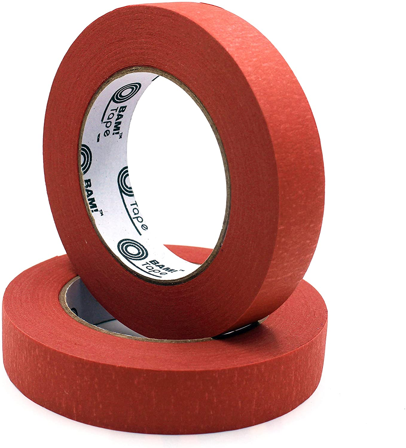 Red 1 inch Masking Tape by BAM! Tape | 2 Rolls | 120 yd Total | 14 Day Low Residue Wall Safe Painters Tape | Homeschool Arts and Crafts Supplies