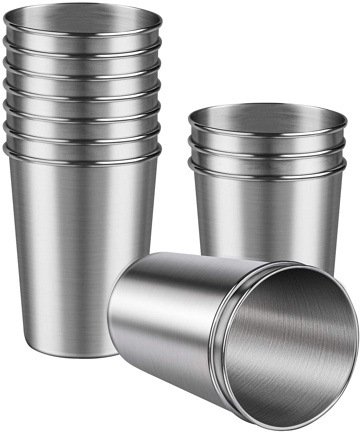 Ruisita 12 Pieces Stainless Steel Shot Cups Stainless Steel Shot Glass Drinking Tumbler (8 Ounce/230 ml)