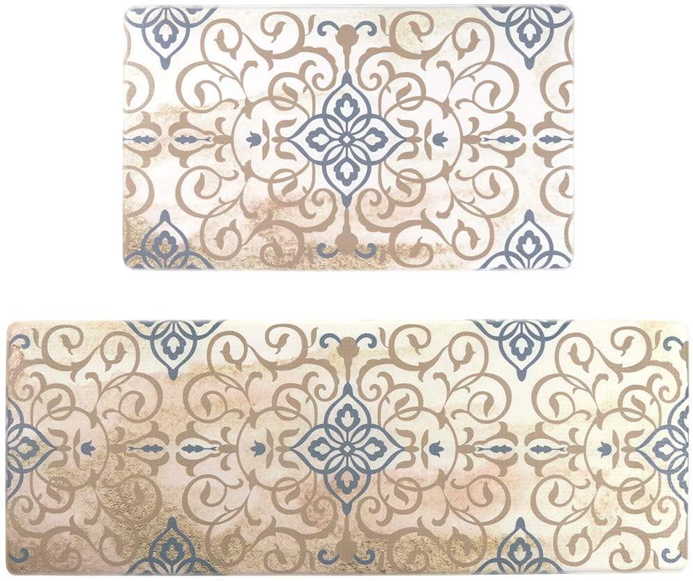 Seavish Anti Fatigue Kitchen Floor Mat Set, Vintage Royal 2 piece 17