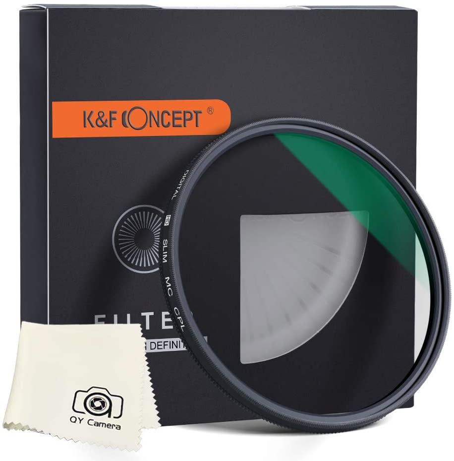 K&F Concept 49mm Circular Polarizer Filter CPL Layer Super Slim Multi Coated CPL Lens Filter