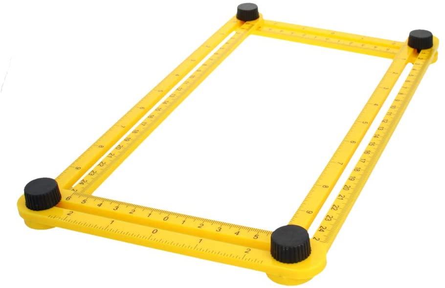 Utoolmart Template Tool ABS Measures Angles and Forms Angle Template Tool Multi-Angle Ruler For Engineer 1pcs