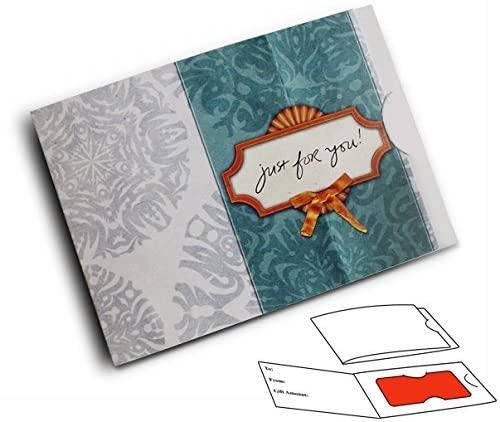 Side Fold Gift Card Presenter - Teal Damask (100 Pack)