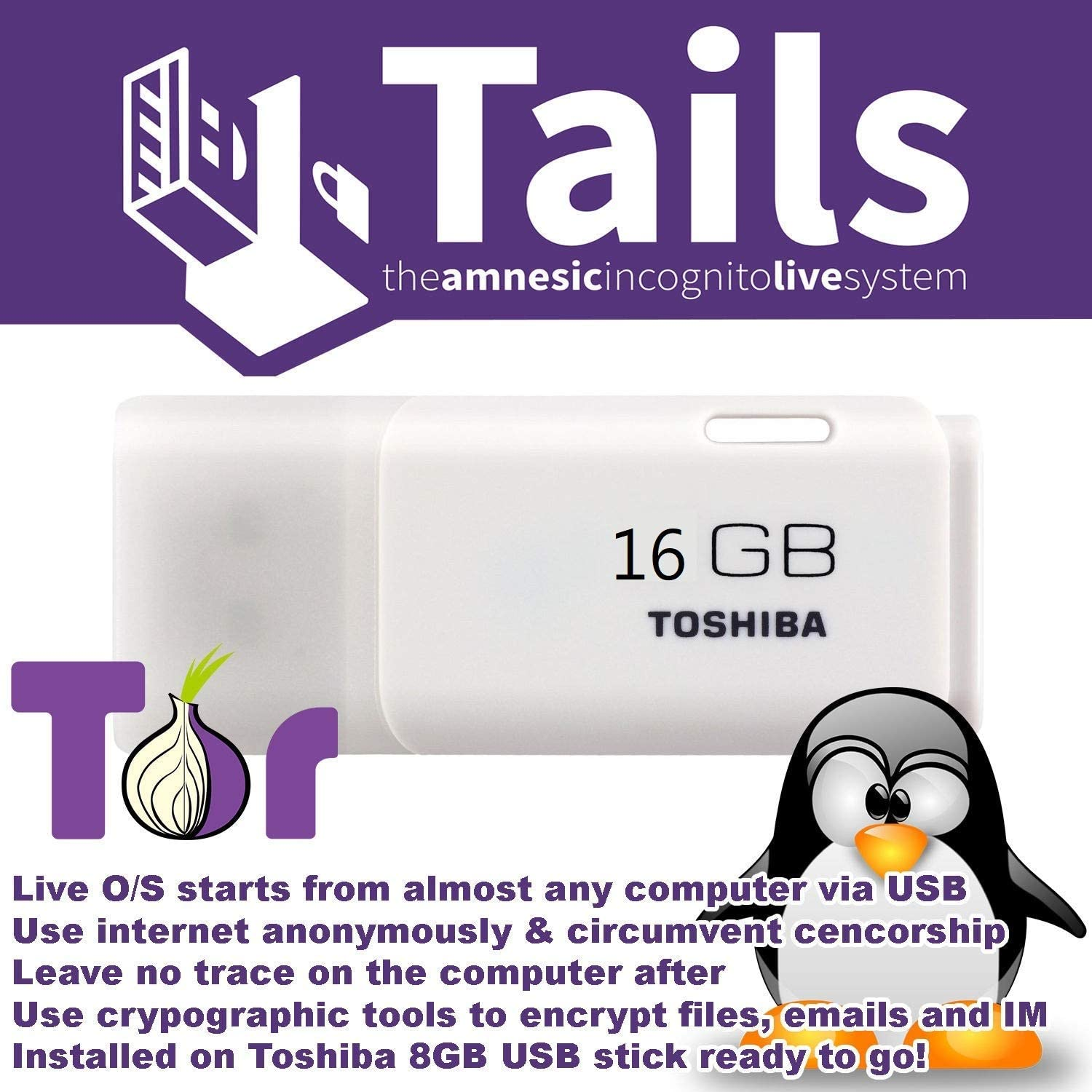 Linux Tails Secure OS Anonymous Browsing on Bootable USB