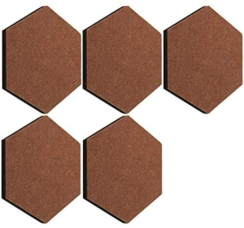 thehaki Sandwich Felt Board Hexagon Type Memo Board (Brown_5P)