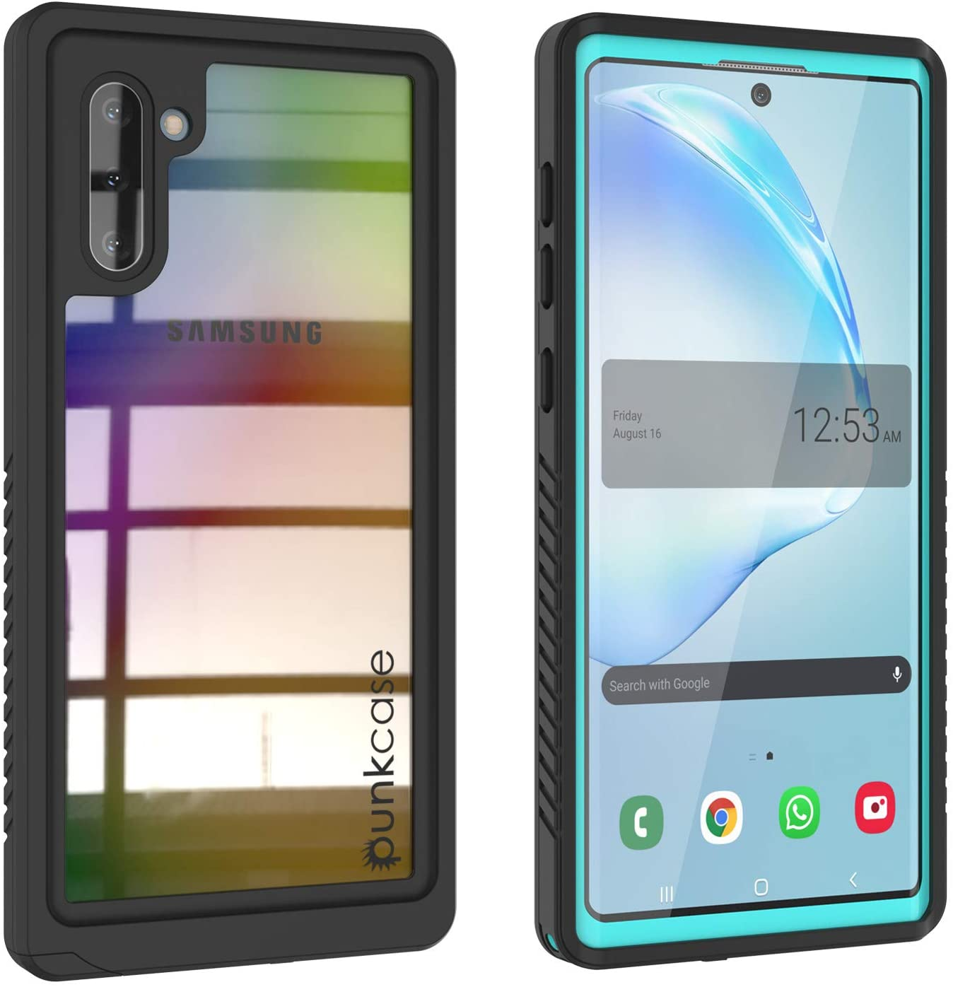 Punkcase Note 10 Waterproof Case [Extreme Series] [Slim Fit] [IP68 Certified] [Shockproof] [Dirtproof] [Snowproof] Armor Cover Compatible W/Samsung Galaxy Note 10 [Teal]