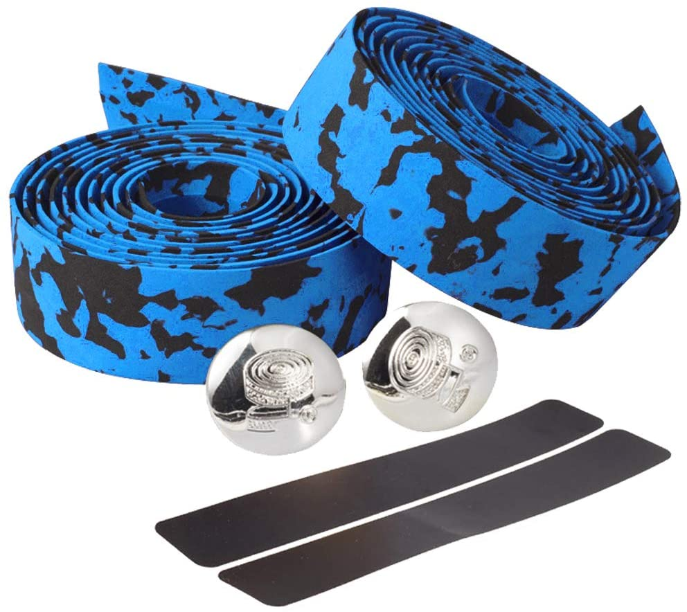 Lemcrvas Bike Handlebar Tapes EVA Bicycle Bar Tape with 2 Bar Plugs for Cycling Handle Wraps for Touring Cycling and Road Racing -2 Rolls