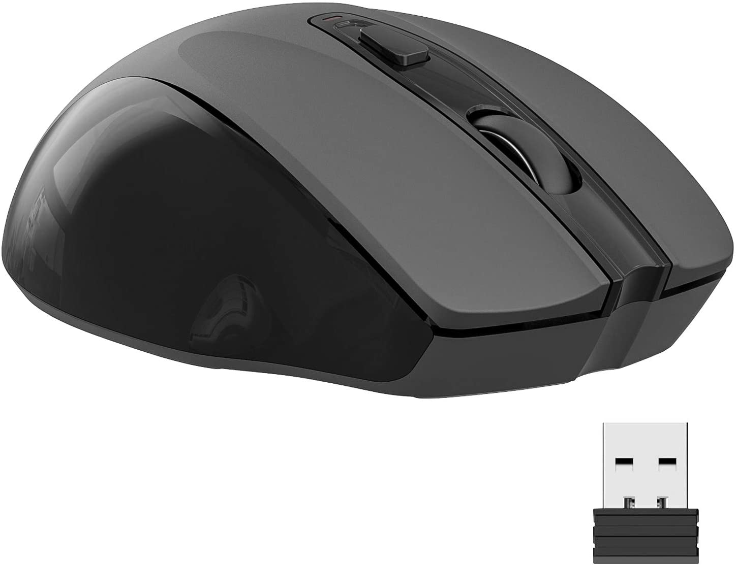 Wireless Mouse, 2.4G Slim Silent Travel Cordless Mouse Optical Mice with USB Receiver for Laptop Computer PC MacBook Chromebook and Notebook (Black)
