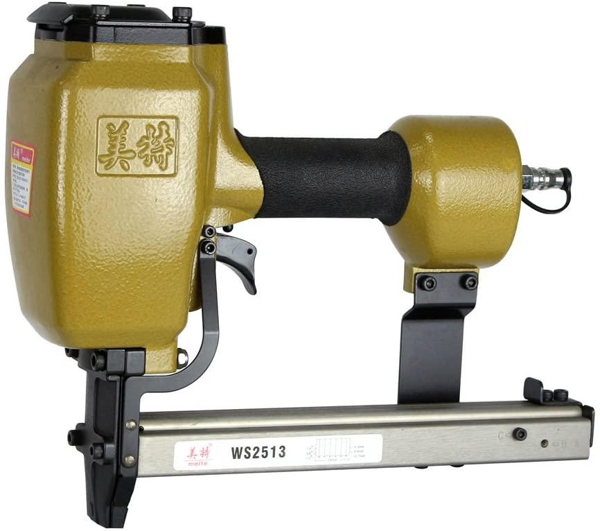 meite WS2513 Corrugated Stapler - 25 Gauge 1-Inch Crown Corrugated Nailer Pneumatic Corrugated Fastening Tool (1/4-Inch to 1/2-Inch)