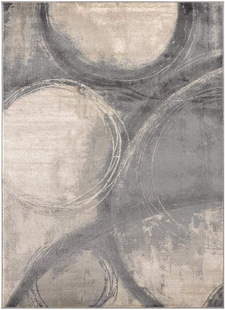 Luxe Weavers Howell Collection Abstract 8x10 Gray Area Rug