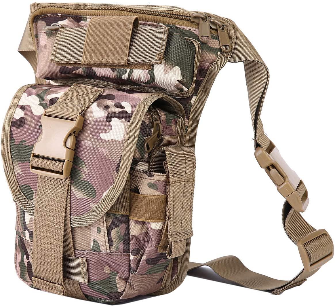 Drop Leg Waist Bag Tactical Military Thigh Waist Fanny Pack Mens (MC)