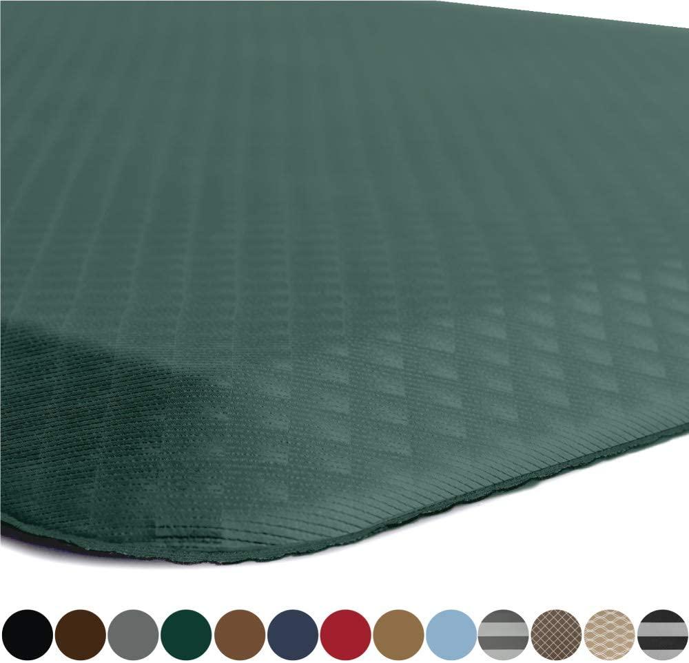 Kangaroo Original Standing Mat Kitchen Rug, Anti Fatigue Comfort Flooring, Phthalate Free, Commercial Grade, Ergonomic Floor Pad for Office Stand Up Desk, 32x20, Hunter Green