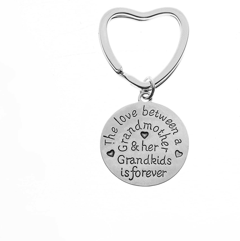 Grandma Keychain, Love Between A Grandmother & Grandkids is Forever, Perfect Grandma Jewelry Gift