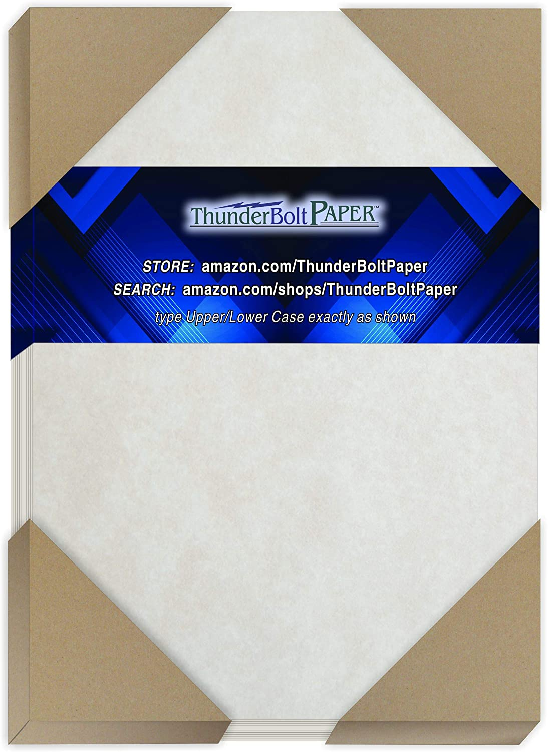 100 Gray Parchment 65lb Cover Weight Paper - 5.5