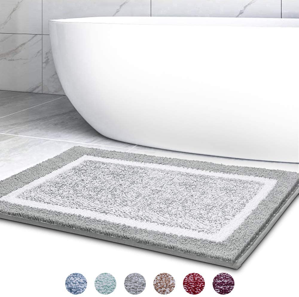 Bathroom Rug Mat, Ultra Soft and Water Absorbent Bath Rug, Bath Carpet, Machine Wash/Dry, for Tub, Shower, and Bath Room…